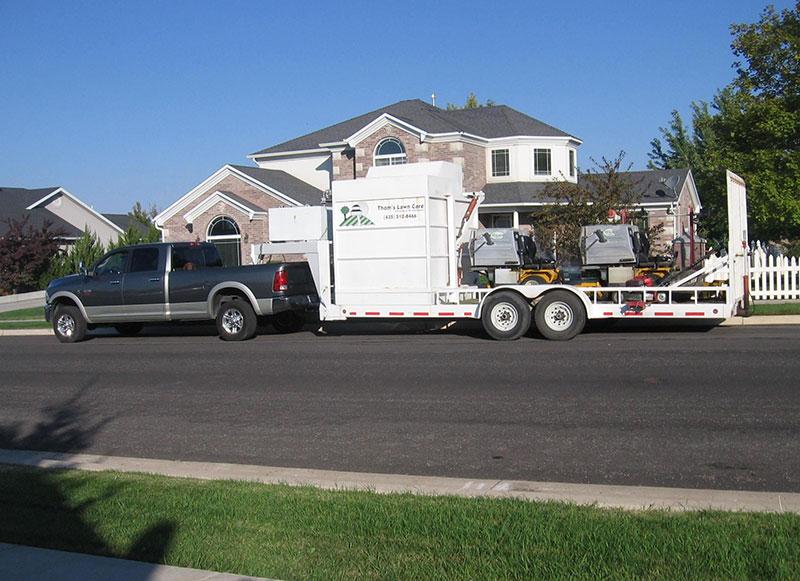 Enclosed landscape trailer setup for Garden maintenance trailer